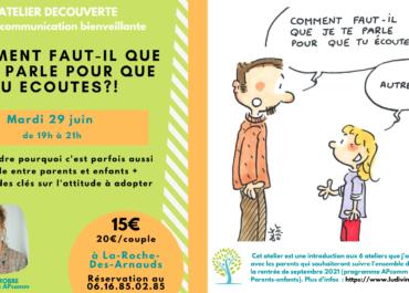 Ateliers sur les relations parents-enfants, à La-Roche-Des-Arnauds